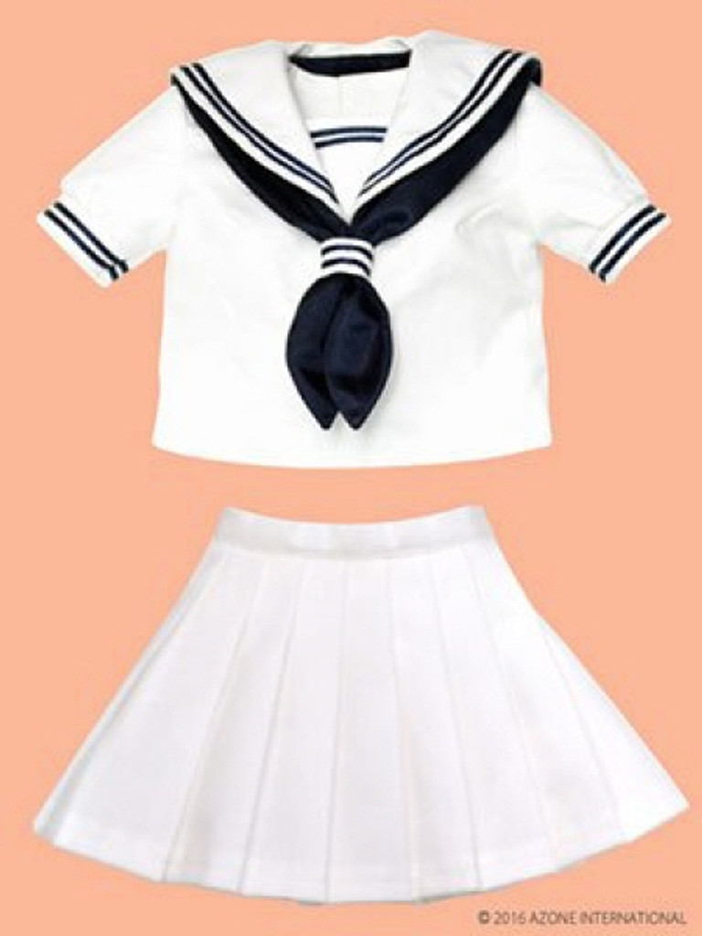 Azone FAO035-WHN Azo 2 Sailor Summer Clothes Set White x Navy