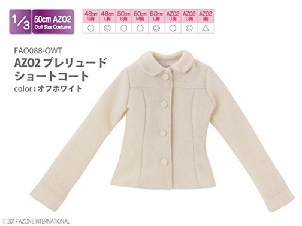 Azone FAO088-OWT Azo 2 Prelude Short Coat Off White