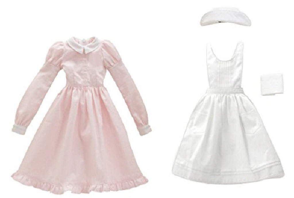 Azone FAR187-PNK for 50cm doll Classical Nurses Set White x Pink