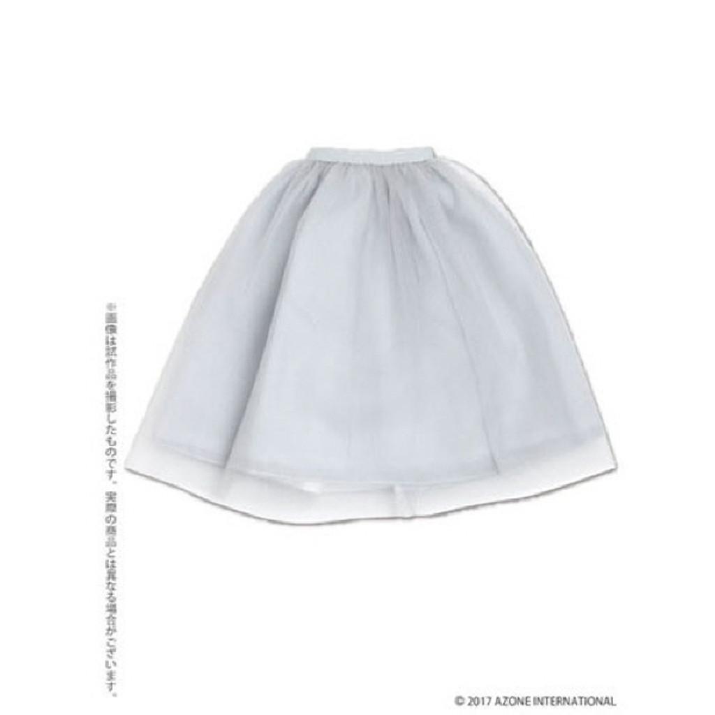 Azone FAR219-LGR for 50cm doll Tulle Skirt Light Gray