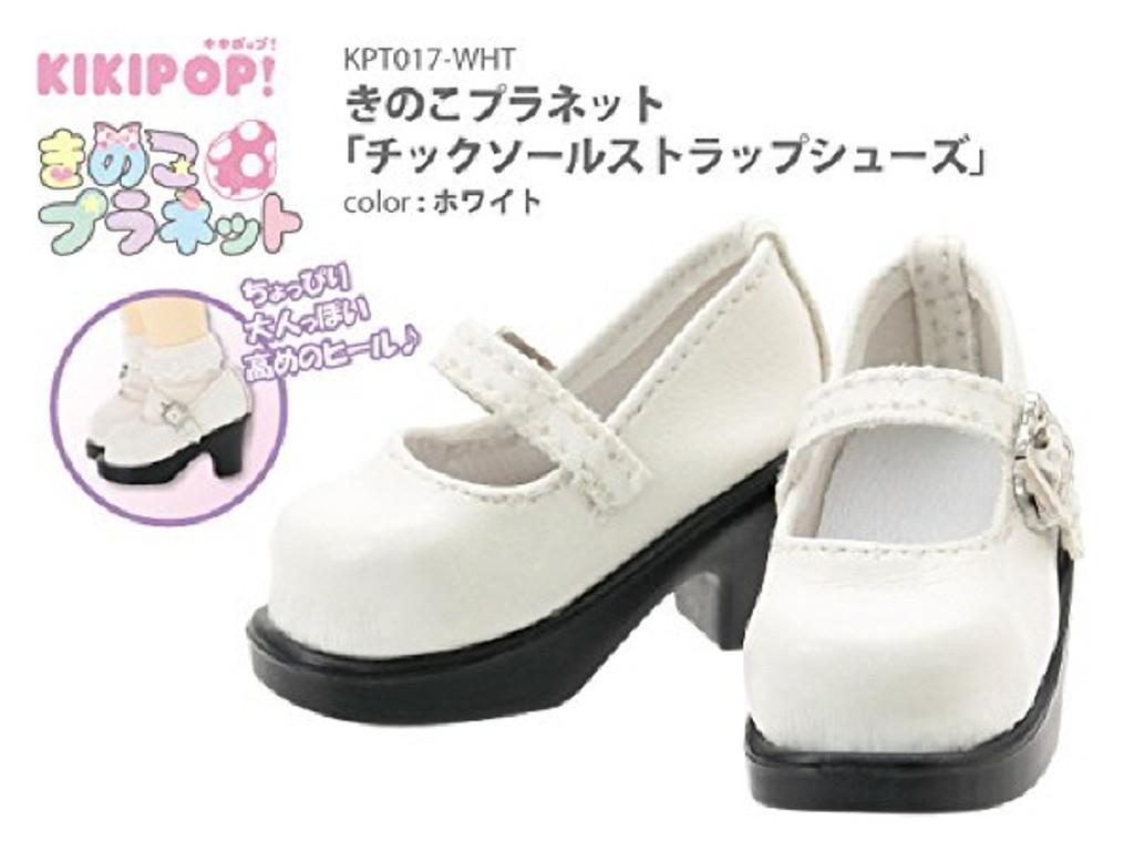 Azone KPT017-WHT Mushroom Planet 'Tic Saul Strap Shoes' White