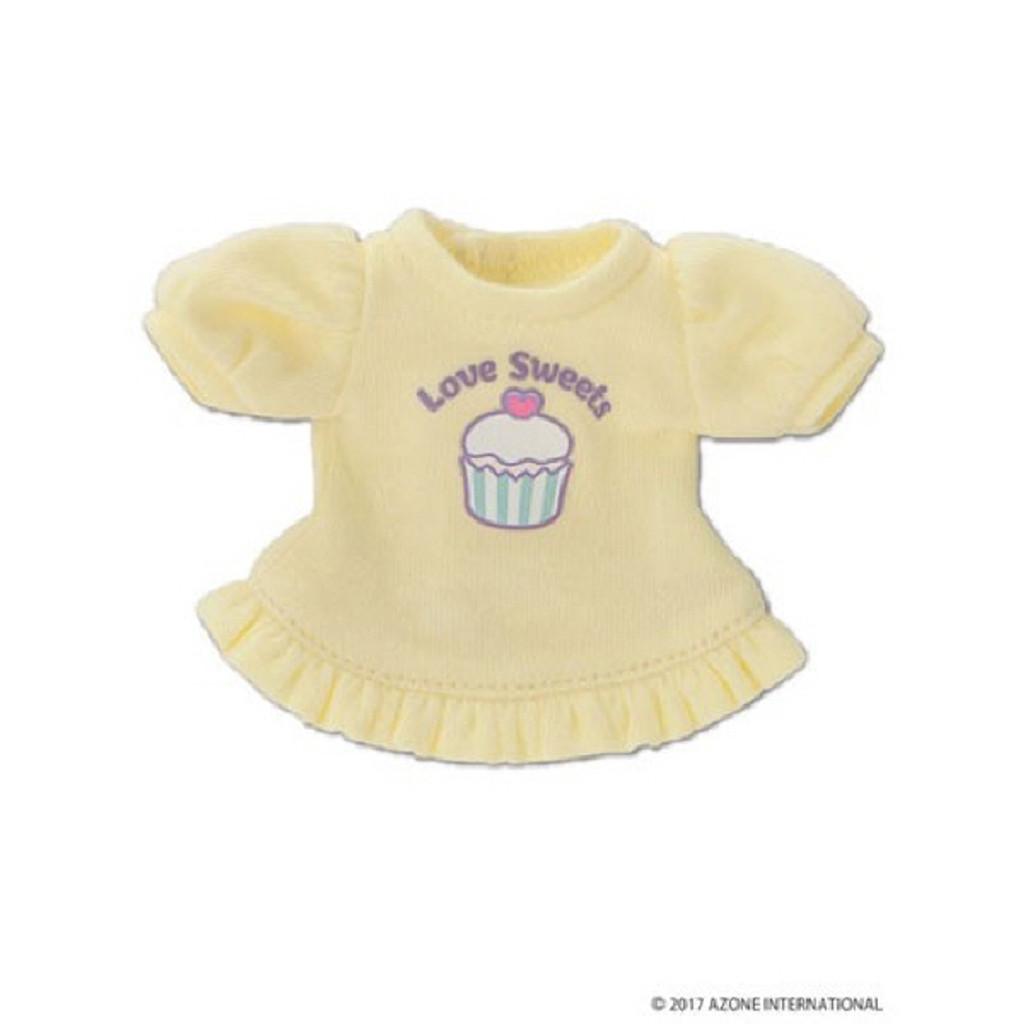 """Azone KPT018-YEL Mushroom Planet """"Love T-Shirt"""" Yellow"""