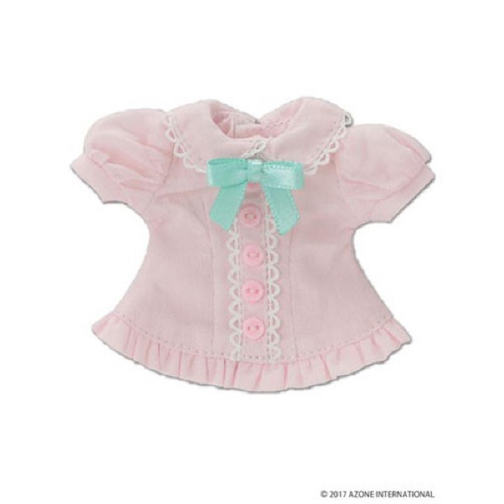 Azone KPT019-PNK Mushroom Planet 'Ribbon Frill Blouse' Pink