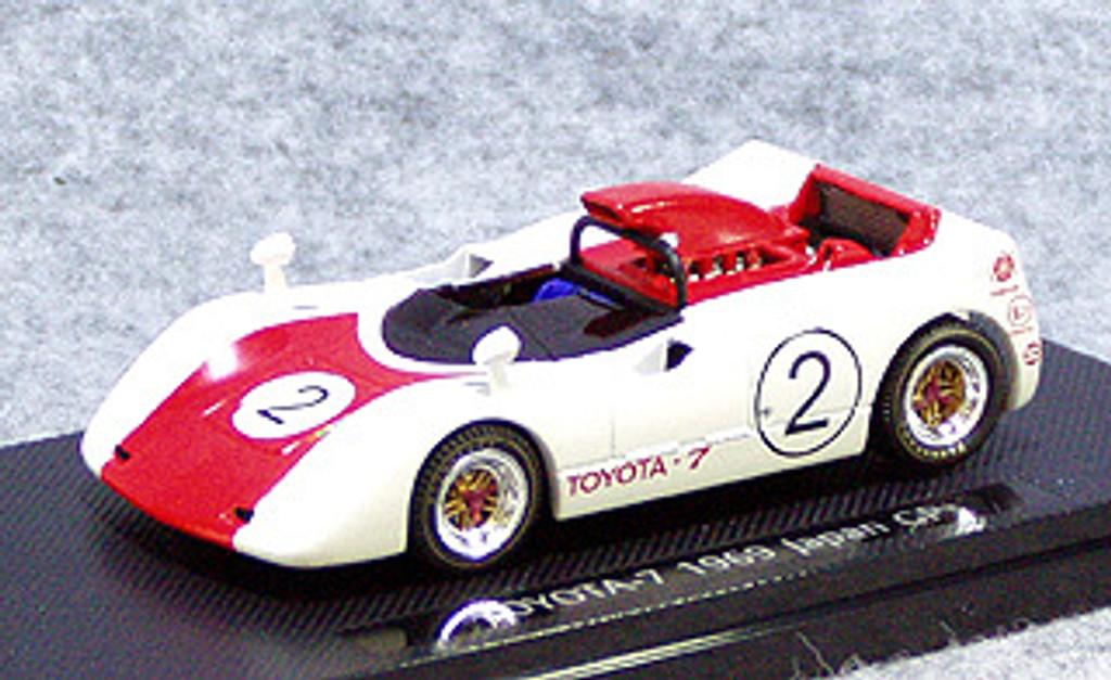 Ebbro 43663 Toyota 7 Japanese GP 1969 No.2 (White/Red) 1/43 Scale
