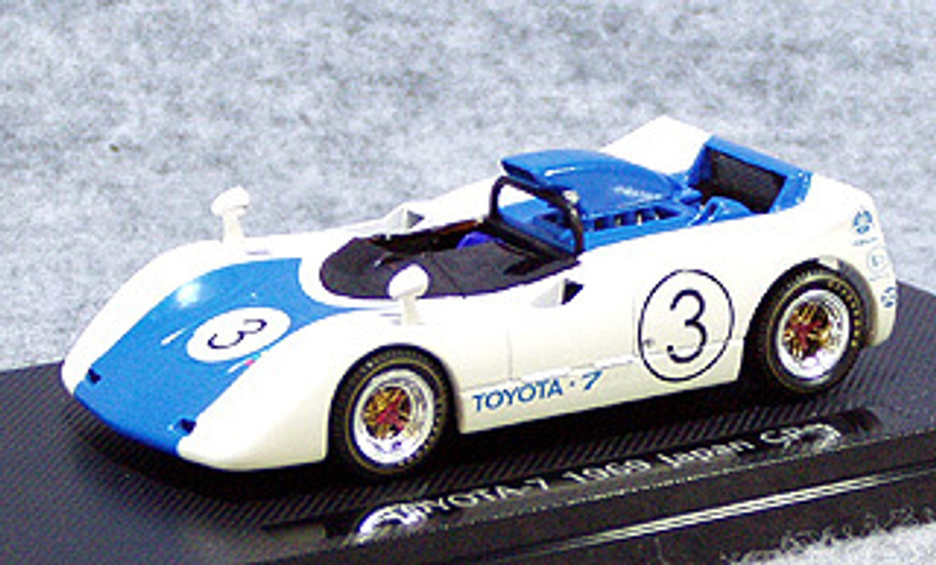 Ebbro 43664 Toyota 7 Japanese GP 1969 No.3 (White/Blue) 1/43 Scale