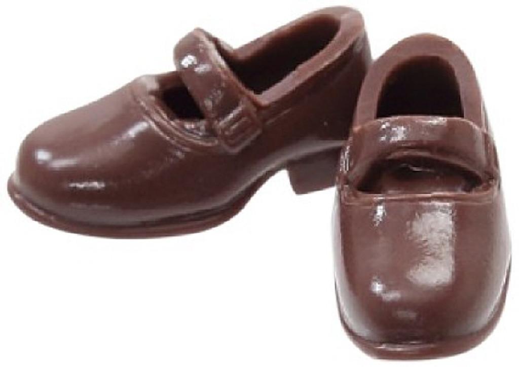 Azone PIC034-BRN 1/12 Soft Vinyl Strap Shoes Brown