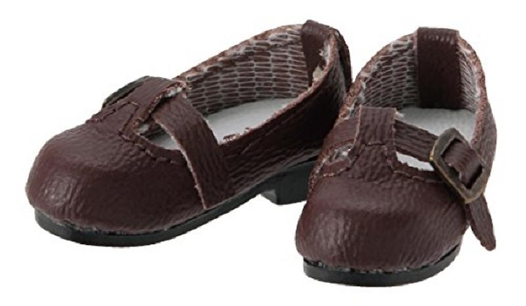 Azone PIC142-BRN 1/12 Pico D T Strap Shoe Brown