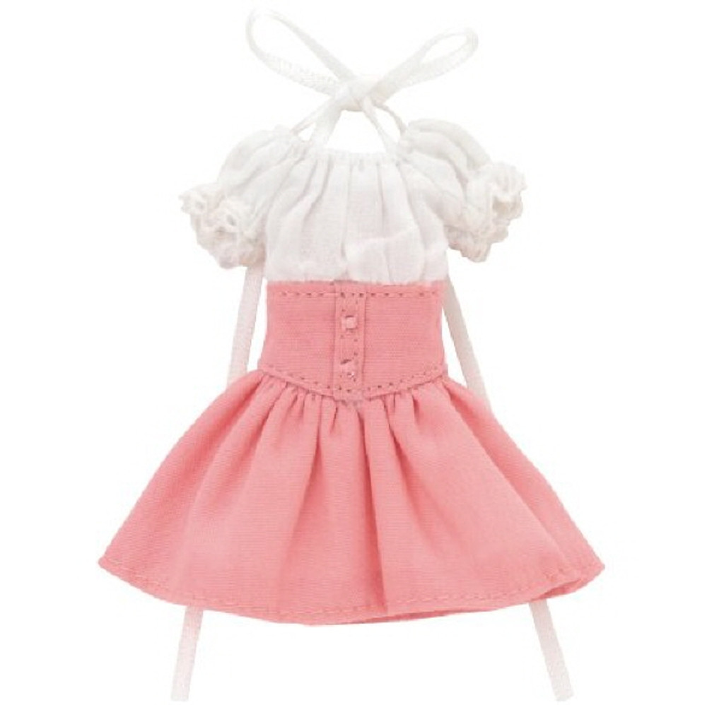 Azone PIC202-PKW 1/12 Off-Shoulder Sunny One Piece Dress Pink x White