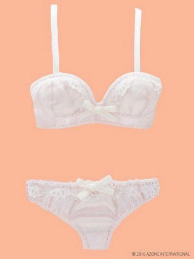 Azone PNM139-PNK PNM / LL Chest Bra & Panties Set Pale Pink