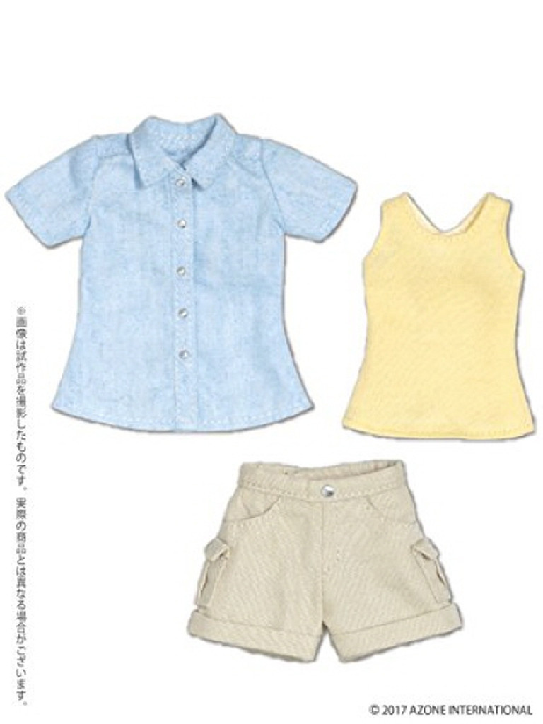 Azone POC409-BLB PNS Hiking Pants Set Blue x Beige