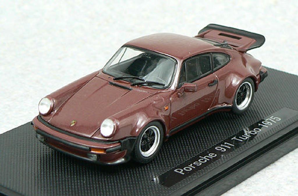 Ebbro 43754 PORSCHE 911 TURBO 1975 Brown 1/43 Scale