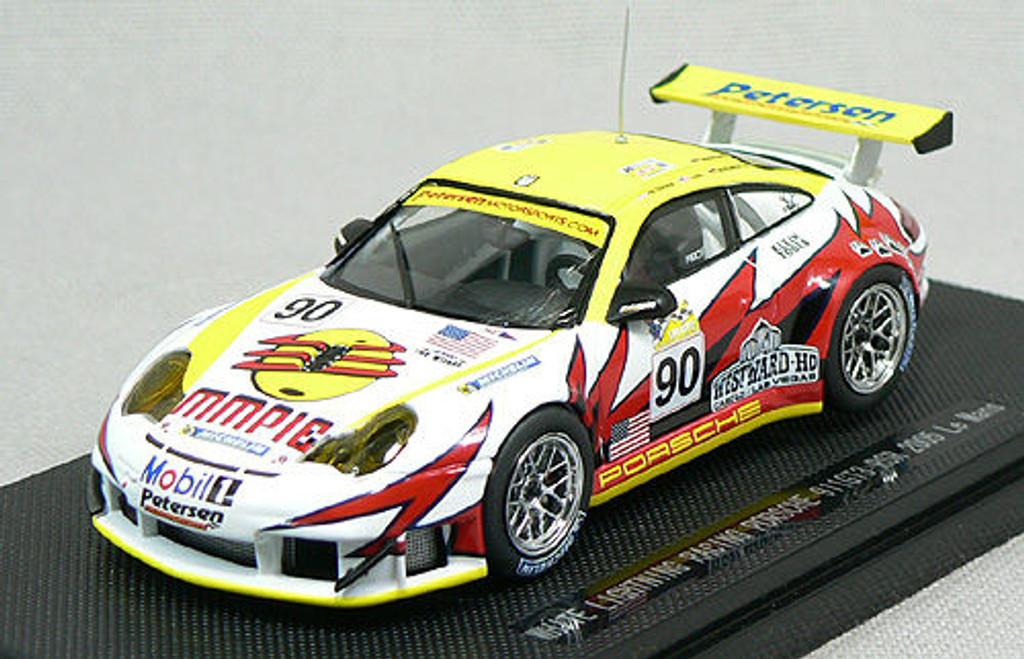 Ebbro 43777 WHITE LIGHTNING PORSCHE 911 GT3 LEMANS 1/43 Scale