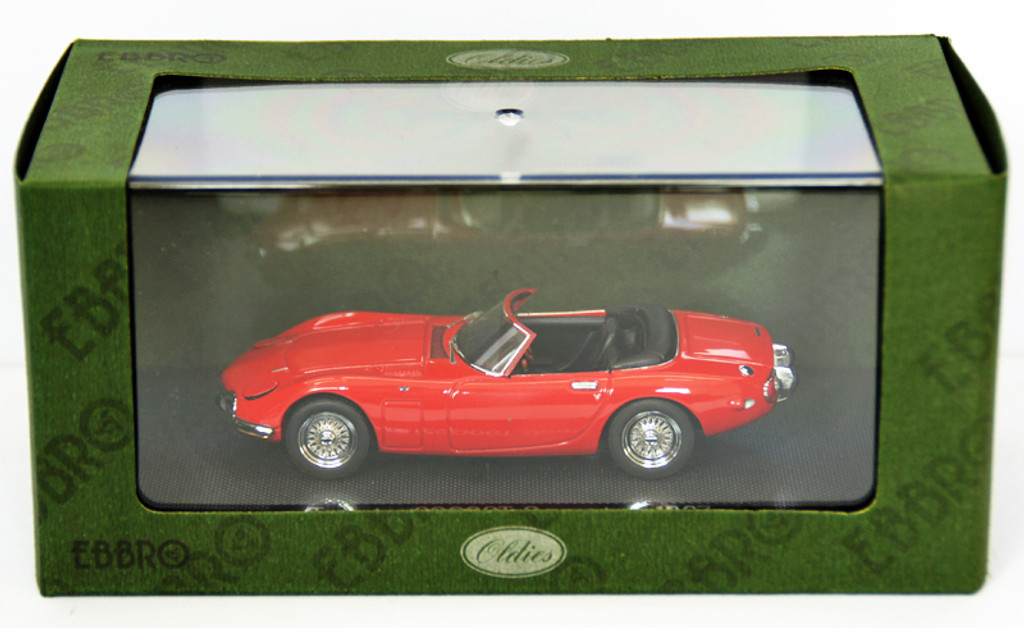Ebbro 43859 TOYOTA 2000GT Opne Top 1967 Red 1/43 Scale