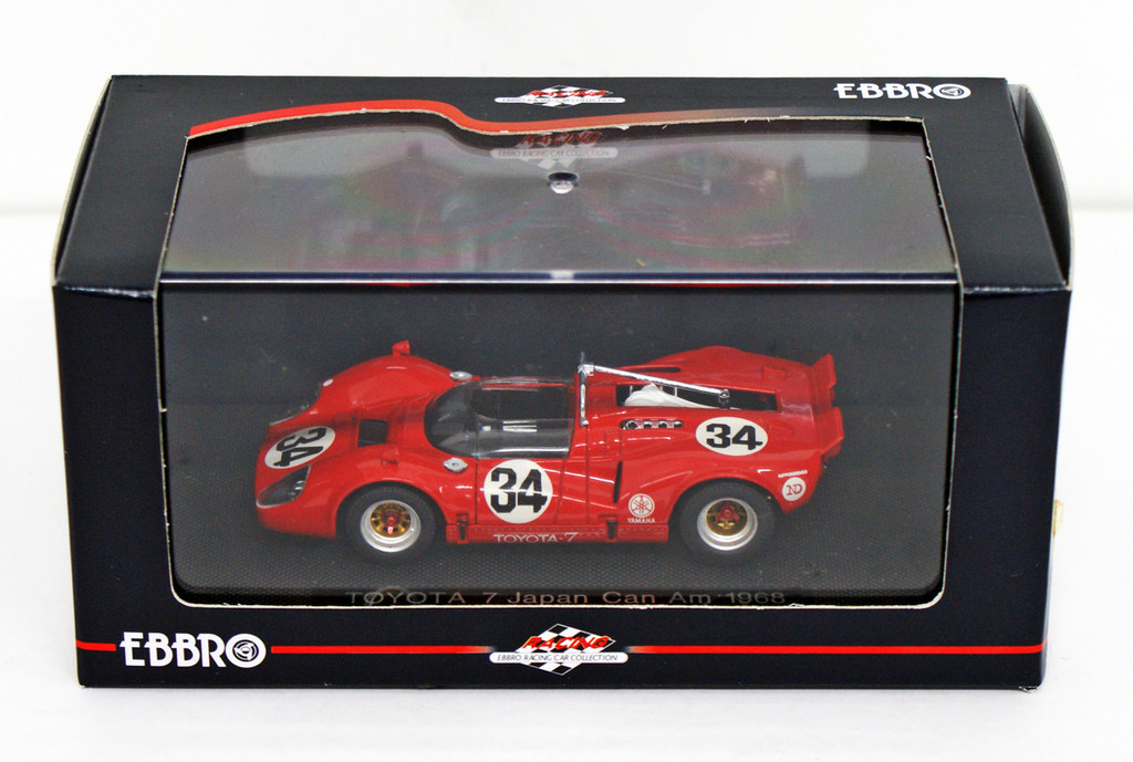 Ebbro 43879 Toyota 7 Japan Kangnam 1968 No.34 (Red) 1/43 Scale
