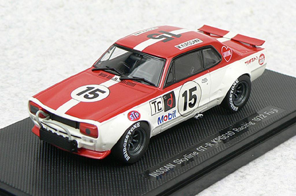 Ebbro 44138 Nissan Skyline GT-R KPGC10 Racing 1973 No.15 (Red) 1/43 Scale