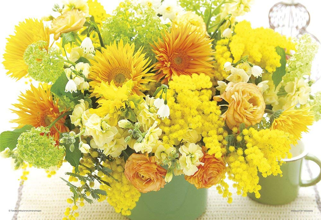 Yanoman Jigsaw Puzzle Happy Yellow Flower | PlazaJapan