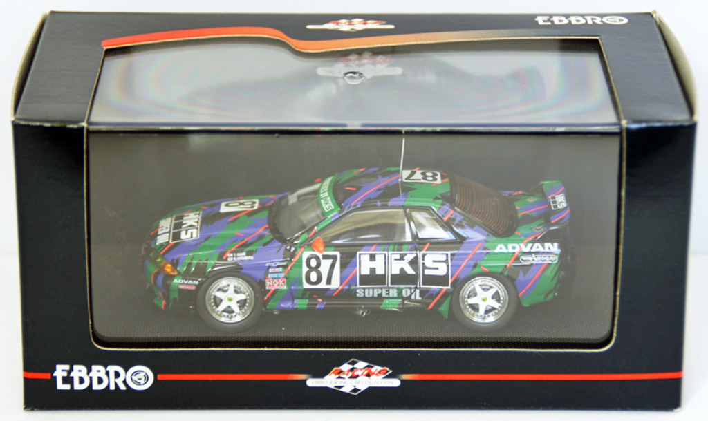 Ebbro 44159 HKS Skyline Gr.A 1993 (Green/Black) 1/43 Scale