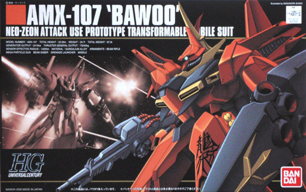Bandai HGUC 015 Gundam AMX-107 BAWOO PROTOTYPE 1/144 Scale Kit