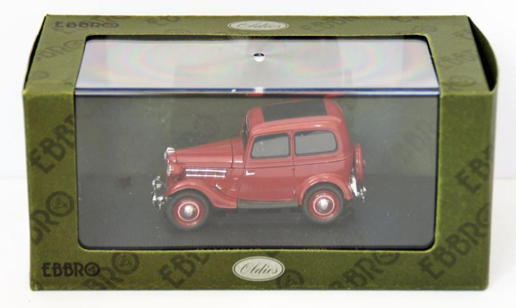 Ebbro 44347 Datsun 17 Sedan 1938 (Dark Red) 1/43 Scale