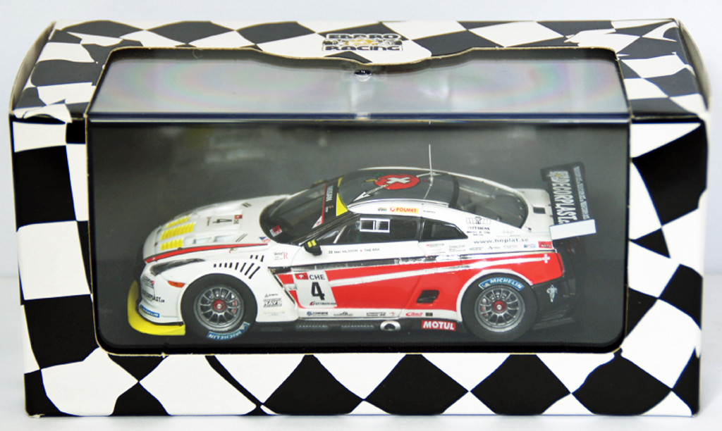 Ebbro 44356 Nissan GT-R GT1 2010 Swiss Racing Team No.4 1/43 Scale