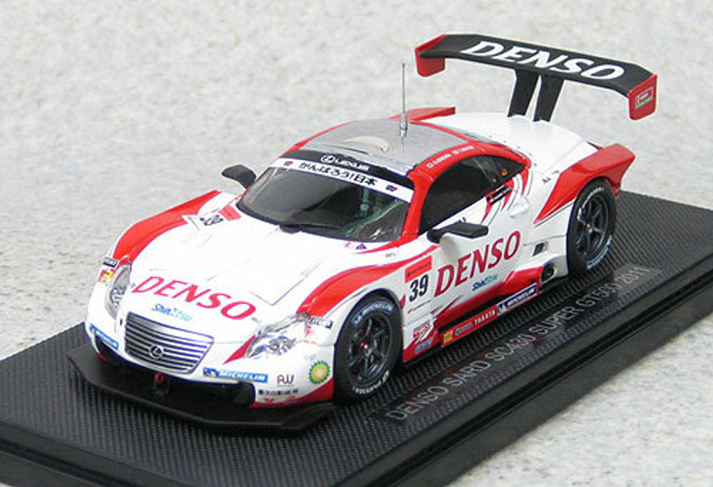 Ebbro 44555 DENSO Third SC430 Super GT500 2011 No.39 (White/Red) 1/43 Scale