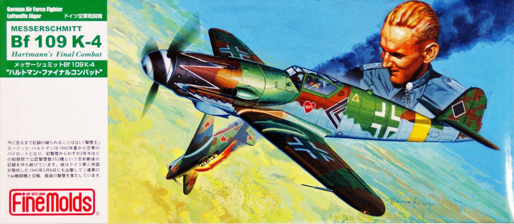 Fine Molds FL15 German Messerschmitt Bf 109 K-4 Hartmann's Final Combat 1/72 Scale Kit