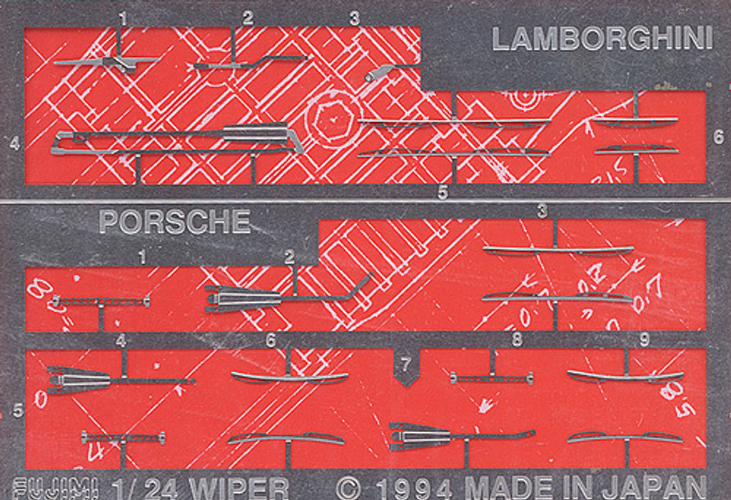 Fujimi Dup16 110219 Detail Up Series Wiper for Lamborghini, Porsche 1/24 Scale