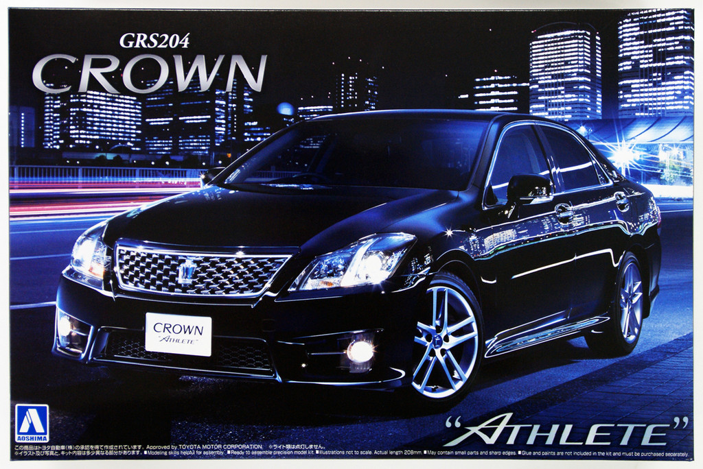 Aoshima 49396 Toyota Crown Athlete 2010 (GRS204) 1/24 Scale Kit
