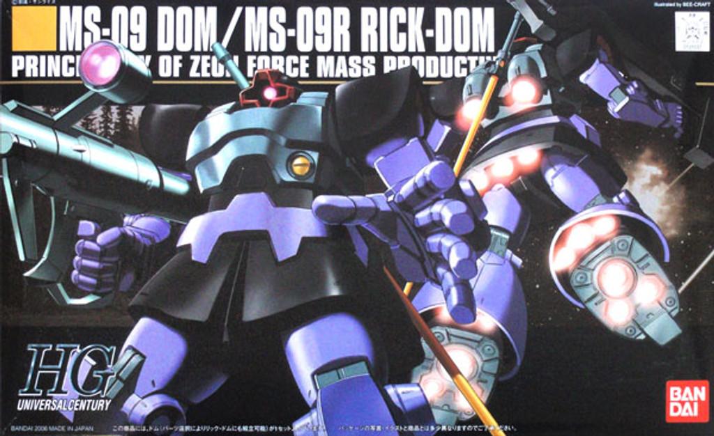 Bandai HGUC 059 Gundam MS-09 DOM MS-09R RICK DOM 1/144 Scale Kit