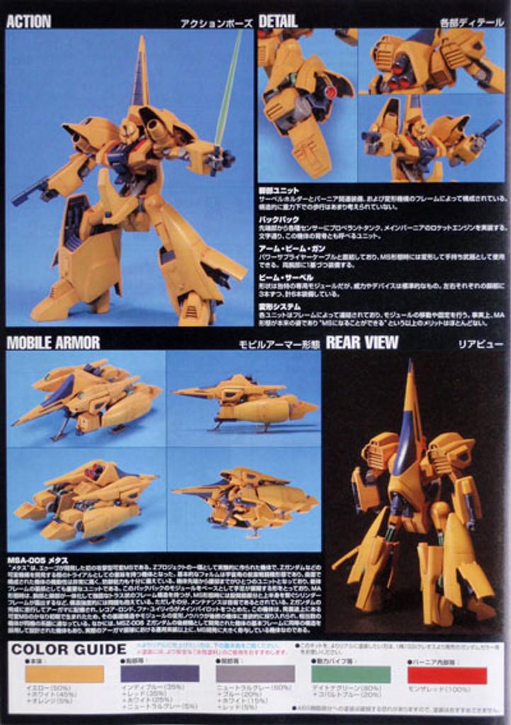 Bandai HGUC 061 Gundam MSA-005 METHUSS 1/144 Scale Kit