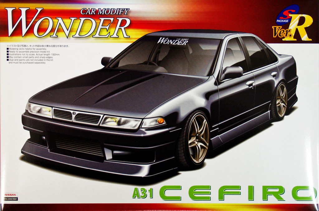 Aoshima 03718 Nissan Cefiro (A31) WONDER Car Modify 1/24 Scale Kit
