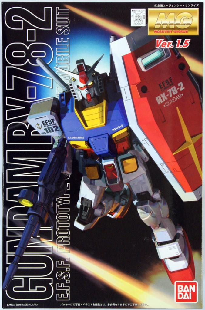 Bandai MG 763729 Gundam RX-78-2 Version 1.5 1/100 Scale Kit