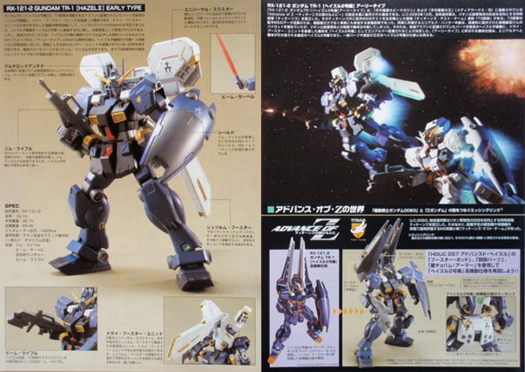 Bandai HGUC 069 Gundam RX-121-2 TR-1 HAZEL II 1/144 Scale Kit