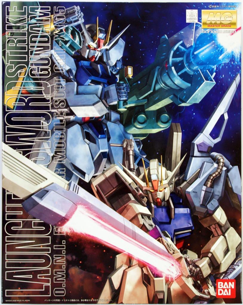 Bandai MG 538017 STRIKE Gundam LAUNCHER SWORD 1/100 Scale Kit