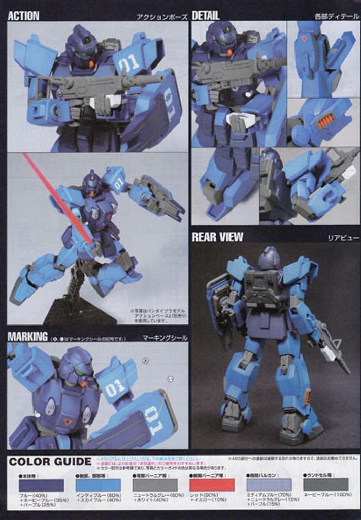 Bandai HGUC 080 Gundam RX-79BD-1 BLUE DESTINY 1/144 Scale Kit