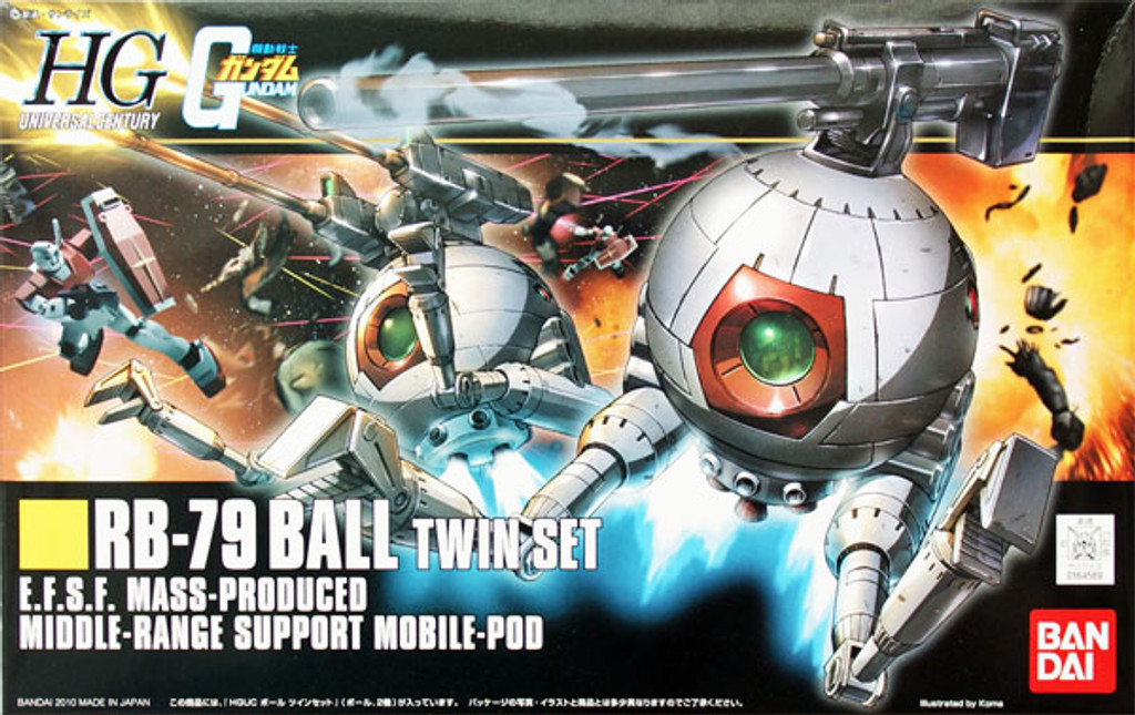 Bandai HGUC 114 Gundam RB-79 Ball TWIN SET 1/144 Scale Kit