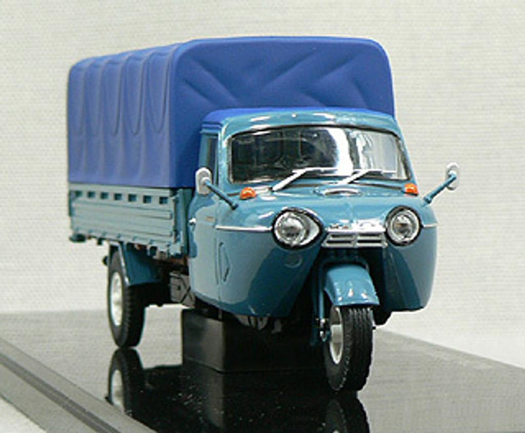 Ebbro 43849 MAZDA T2000 3-Wheel Truck Campustop 1962 (Blue) 1/43 Scale