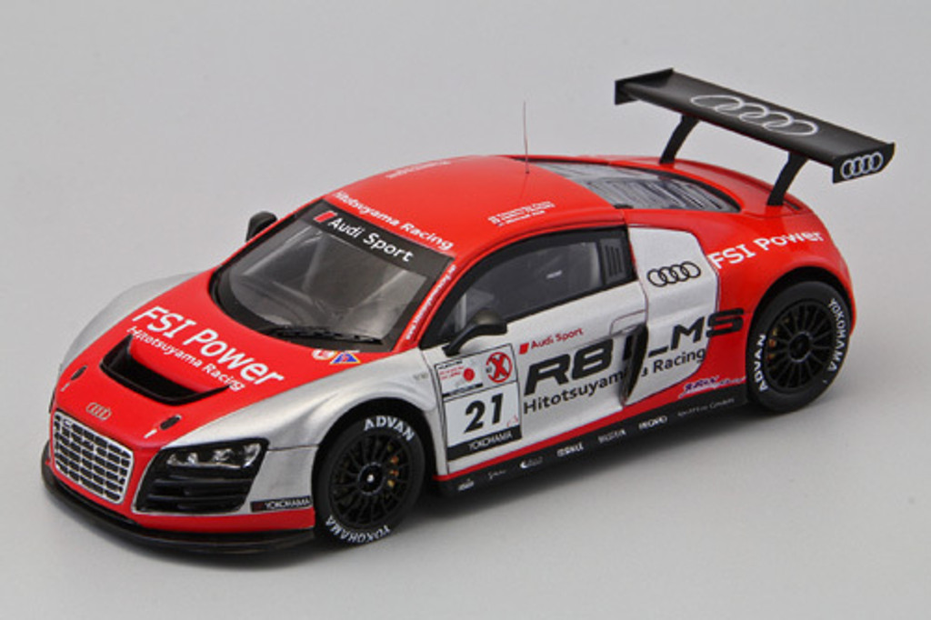 Ebbro 44630 HITOTSUYAMA RACING Audi R8 LMS 2011 (Resin Model) 1/43 Scale