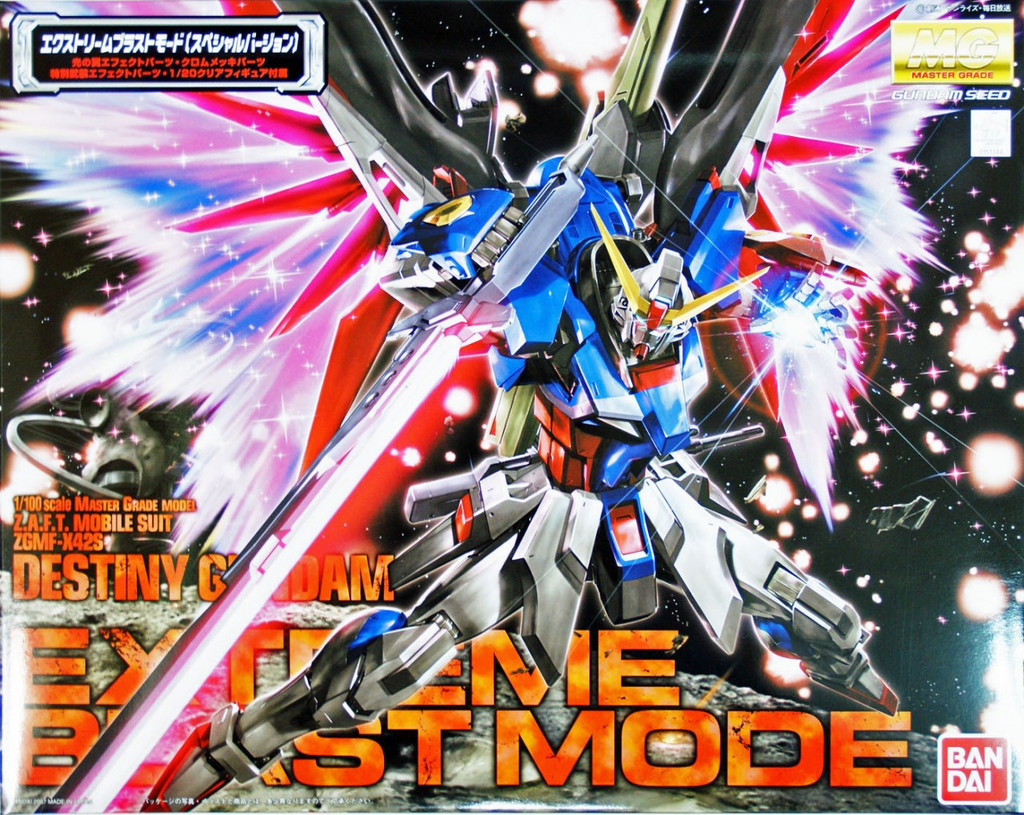 Bandai MG 512444 Gundam Destiny Gundam Extreme Blast Mode 1/100 Scale Kit