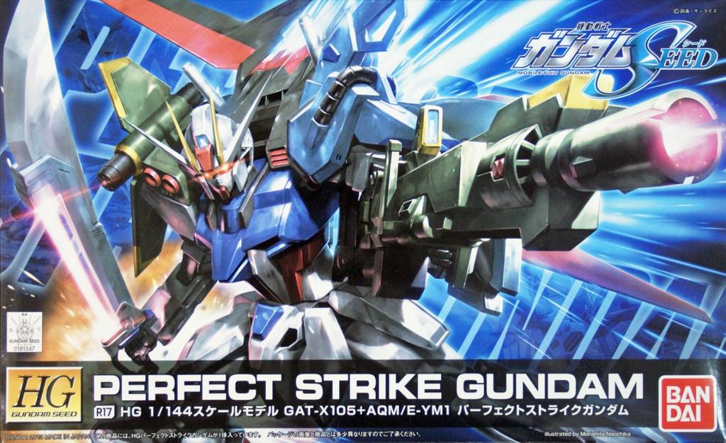 Bandai R17 Perfect Strike Gundam GAT-X105+AQM/E-YM1 1/144 Scale Kit (HG Gundam Seed)
