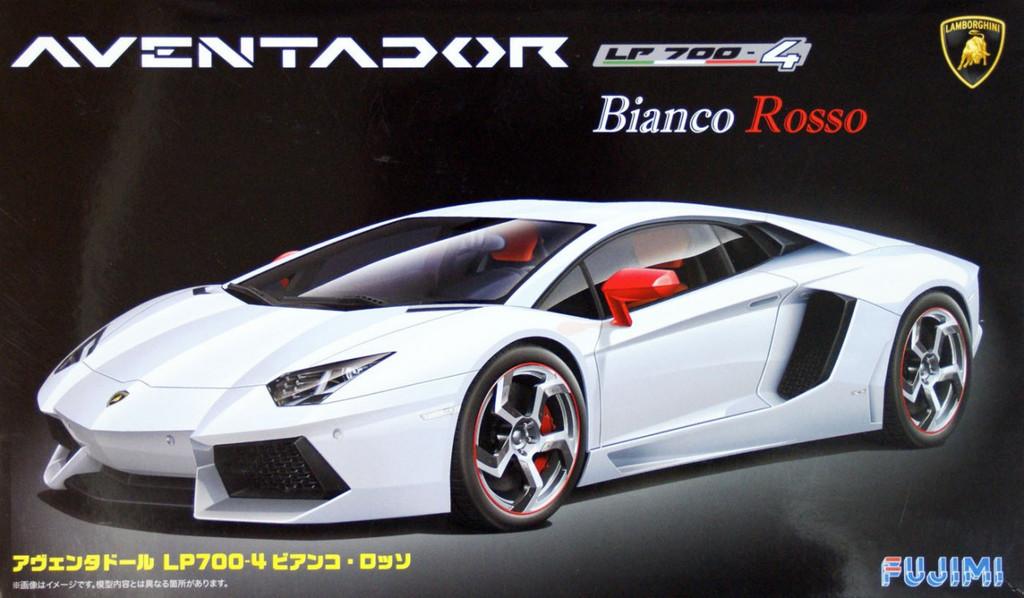 Fujimi RS-06 Lamborghini Aventador LP700-4 Bianco Rosso 1/24 Scale Kit 125640