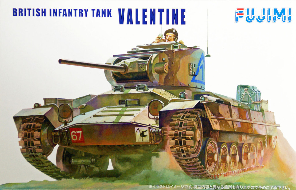 Fujimi WA07 World Armor British Infantry Tank Valentine 1/76 Scale Kit