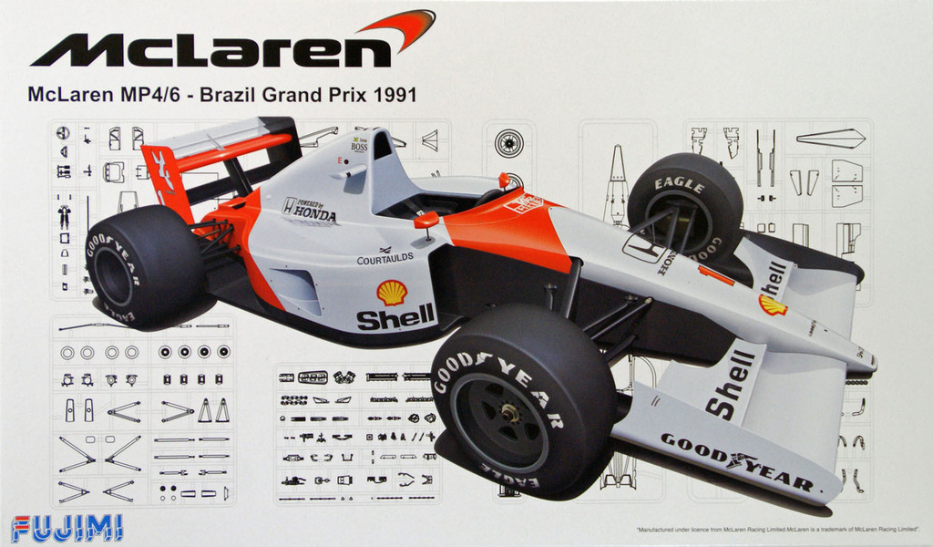 Fujimi GP53 091693 F1 McLaren MP4/6 Brazil GP 1991 1/20 Scale Kit