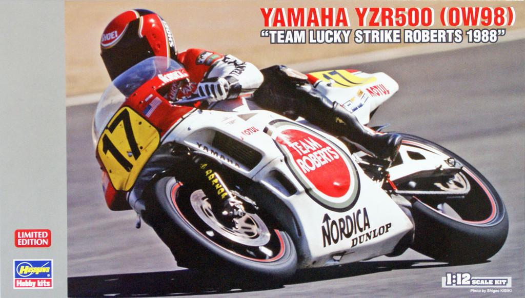 Hasegawa 21707 Yamaha YZR500 (OW98) Team Lucky Strike Roberts 1998 1/12 Scale Kit
