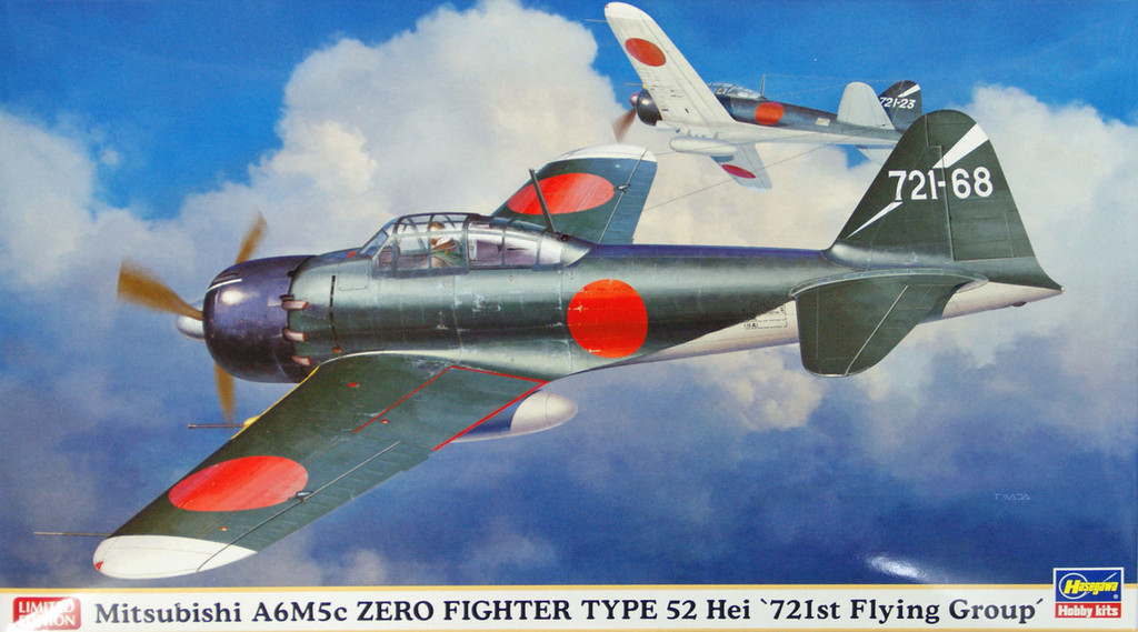 Hasegawa 07362 Mitsubishi A6M5c Zero Fighter Type 52 Hei 721st Flying Group 1/48 Scale Kit