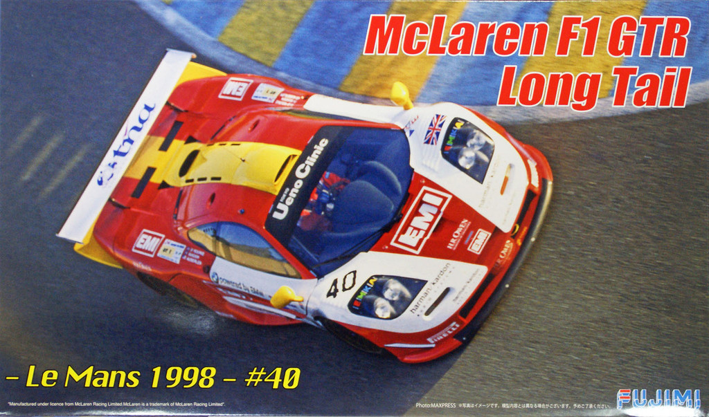 Fujimi RS-59 McLaren F1 GTR Long Tail Le Mans 1998 #40 1/24 Scale Kit 125947