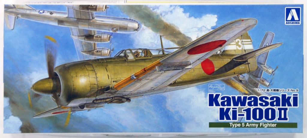 Aoshima 08706 Kawasaki Ki-100 II Type 5 Army Fighter 1/72 Scale Kit