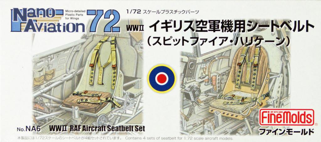 Fine Molds NA6 WW2 RAF Aircraft Seatbelt Set 1/72 Scale Kit