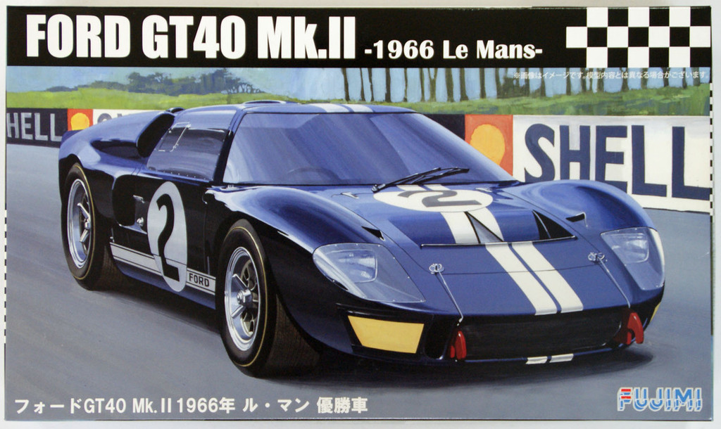 Fujimi RS-16 Ford GT40 Mk.II 1966 Le Mans 1/24 Scale Kit 126036
