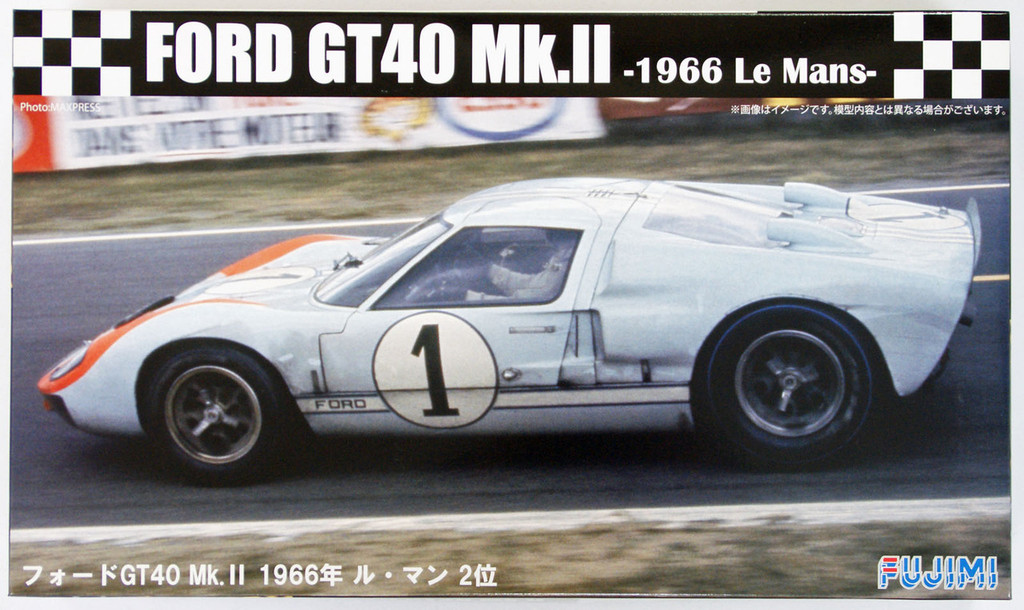 Fujimi RS-32 Ford GT40 Mk.II 1966 Le Mans 1/24 Scale Kit 126043